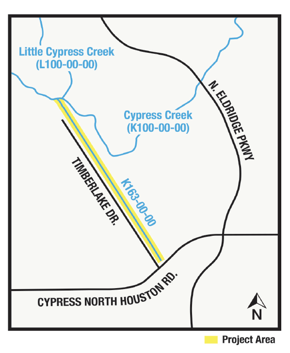 CONSTRUCTION BEGINS ON CYPRESS CREEK TRIBUTARY