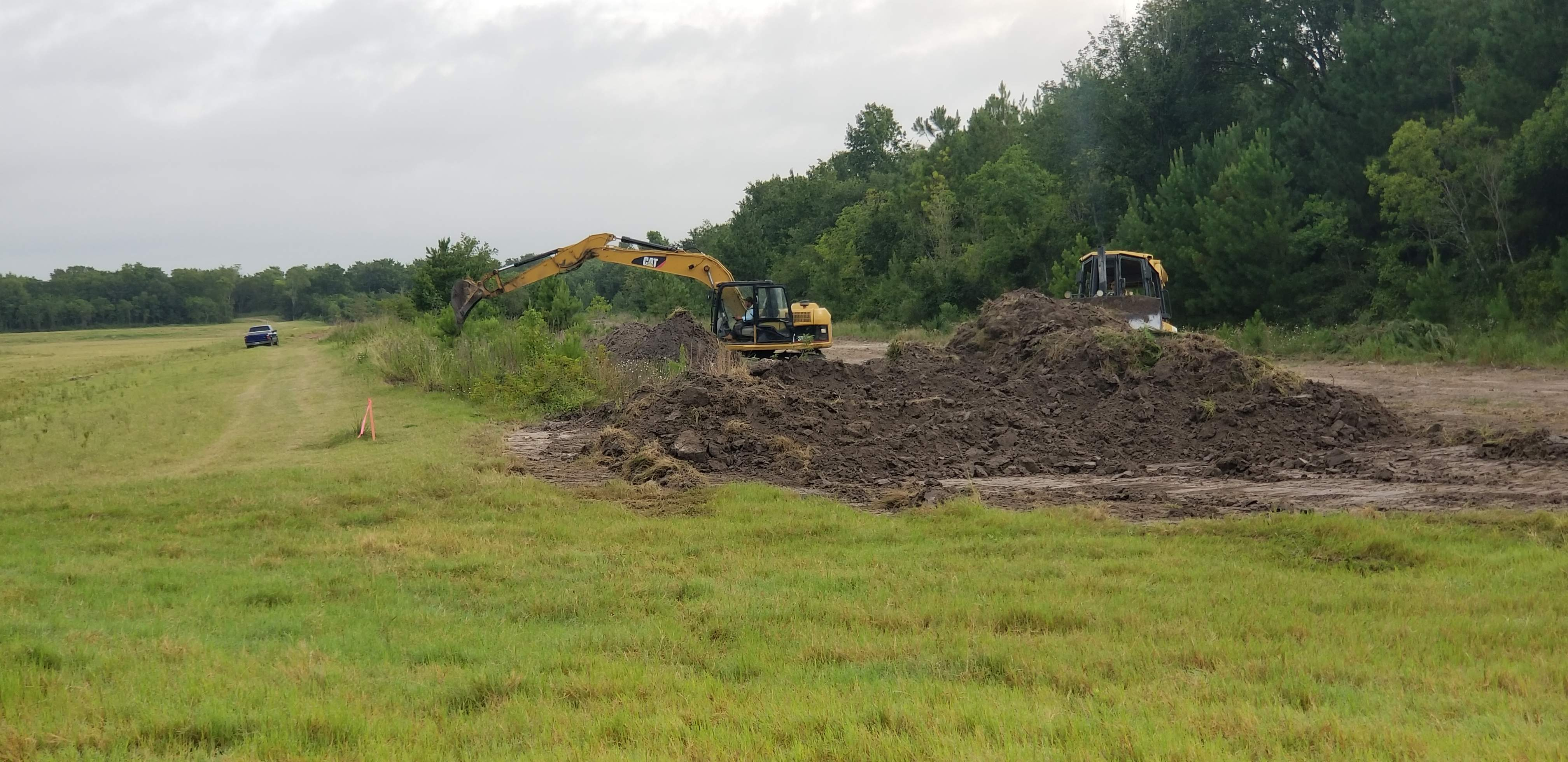 CONSTRUCTION BEGINS ON THE LAUDER STORMWATER DETENTION BASIN IN GREENS BAYOU
