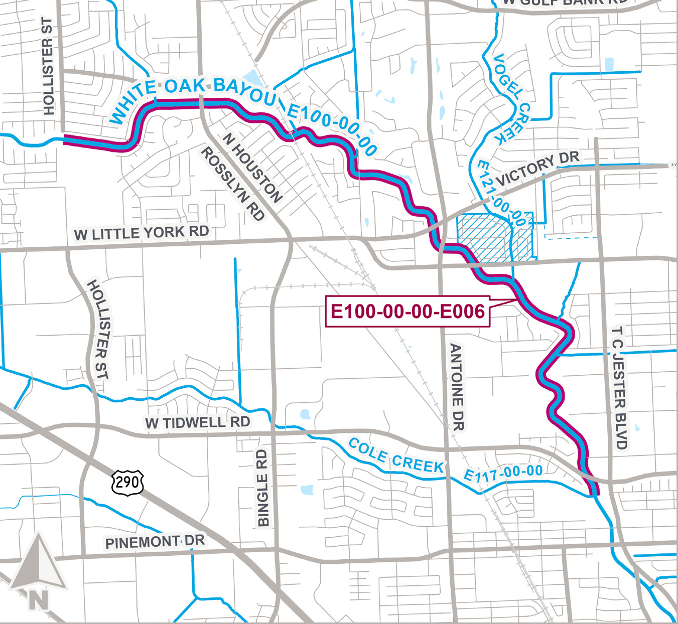 Construction Advisory for E100-00-00-E006 White Oak Bayou Federal Flood Damage Reduction Project
