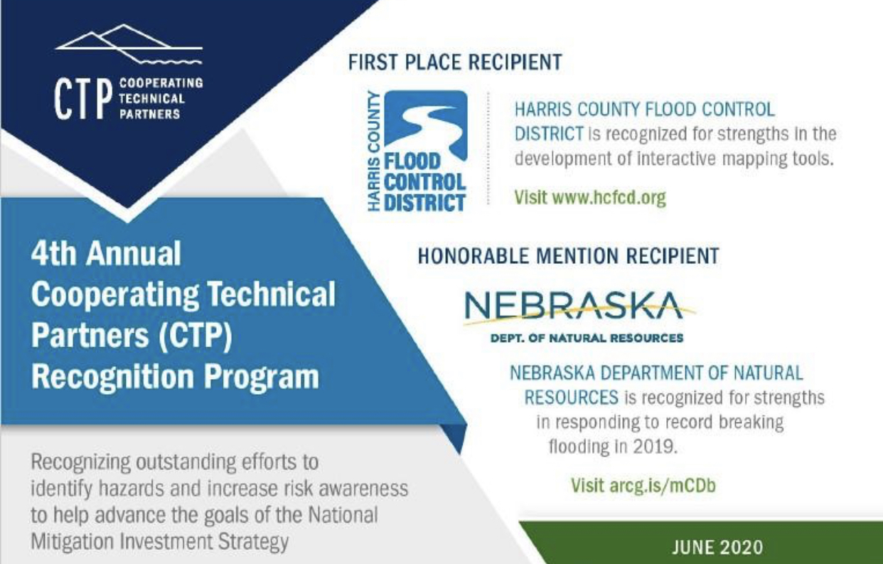 Harris County Flood Control District Selected as Winner of CTP Recognition Program