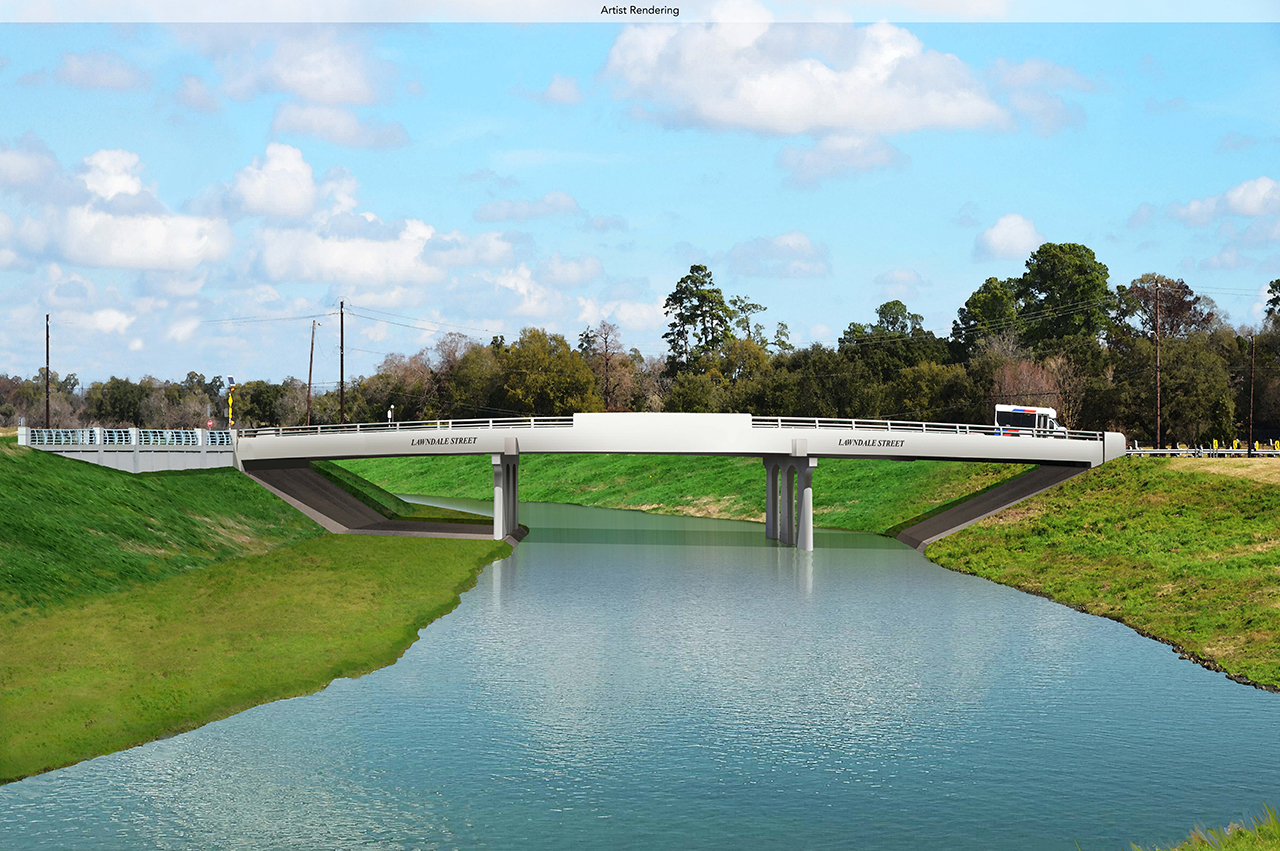 CONSTRUCTION TO BEGIN ON LAWNDALE STREET AND TELEPHONE ROAD BRIDGES OVER BRAYS BAYOU